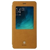BASEUS Terse Leather case for XiaoMi Mi Note [LTMIM5-SM08] - Brown - Casing Handphone / Case